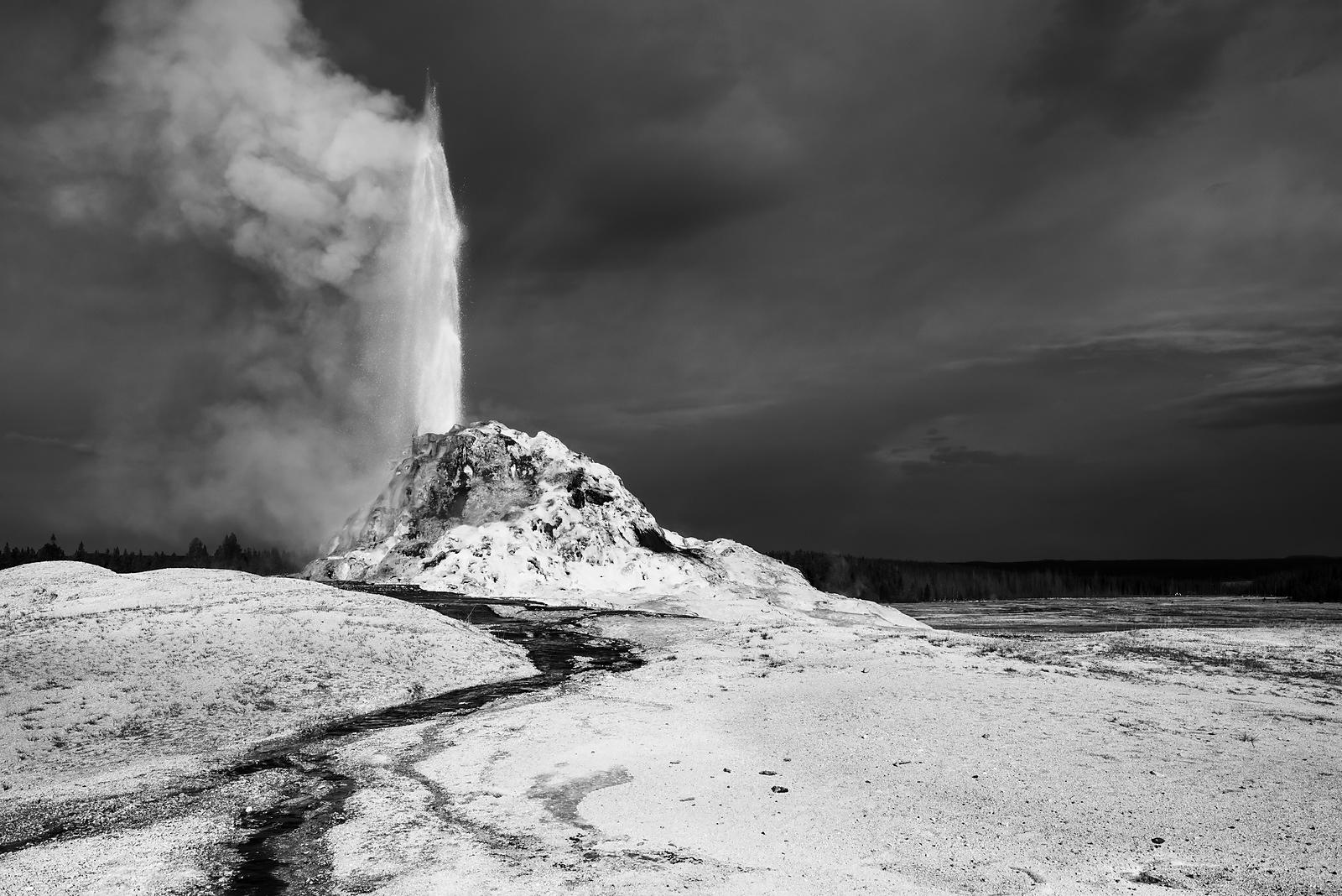White Dome Geyser - Yellowstone