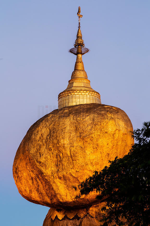 The Golden Rock at Dawn