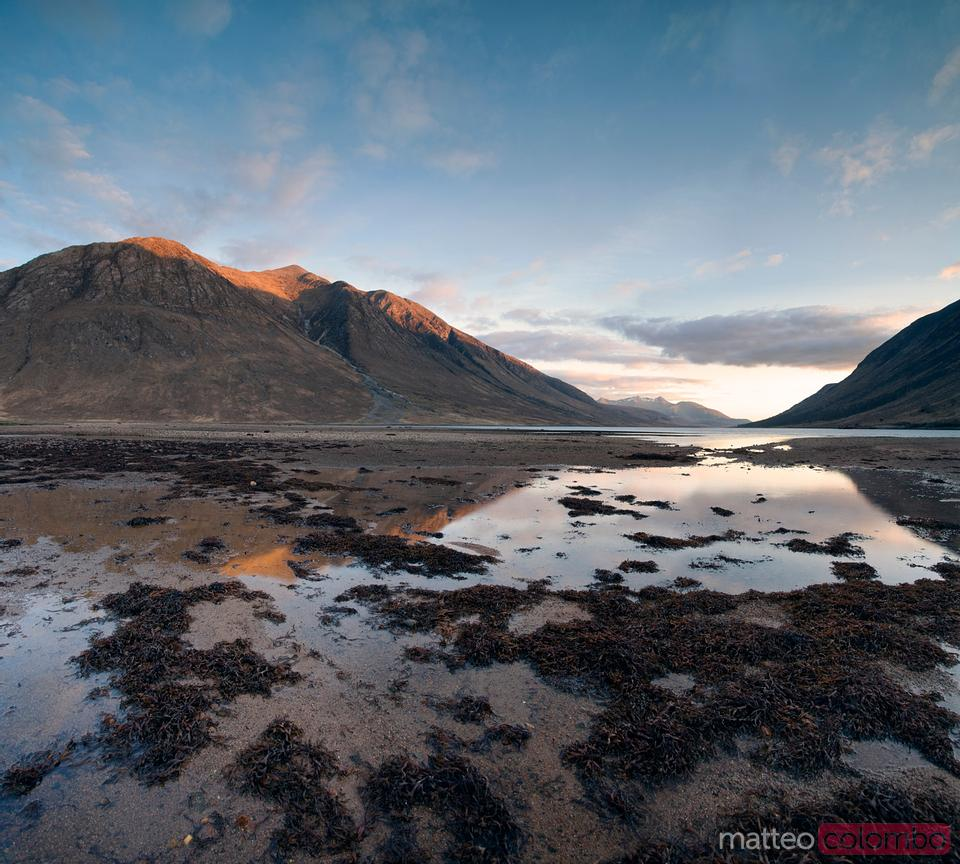 Loch Etive at sunset Scotland UK