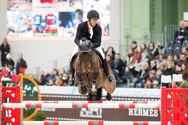 Paris, France, 17.3.2018, Sport, Reitsport, Saut Hermes - PRIX GL Events Bild zeigt Kristaps NERETNIEKS(LAT) riding Moon Ray....