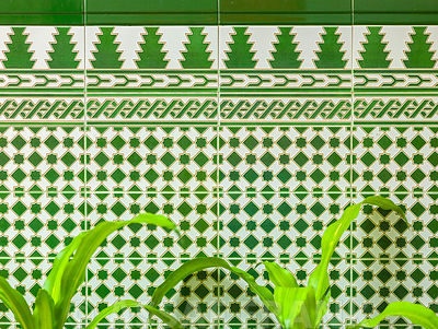 Tiled wall of a building, Havana, Cuba