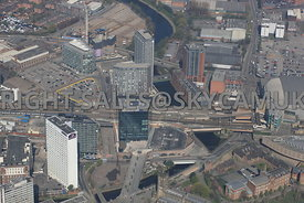 Salford regeneration area Greengate and 101 Embankment and West Tower developments Chapel Street Manchester