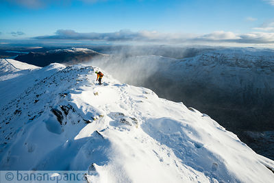 Striding Edge, Helvellyn, winter - BP3334