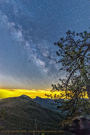 Milky Way Over the Linville Gorge -Vertical