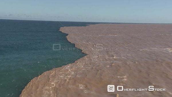 Aerial shot of the ocean in two different colours KwaZulu Natal South Africa