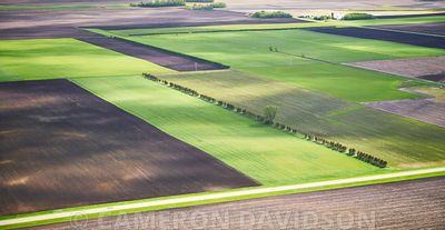 Aerial USA Iowa Farm