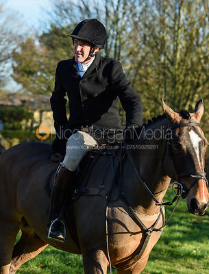 Luke Tomlinson at the Cottesmore Hunt meet at Pickwell Manor 8/1