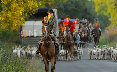 The Cottesmore Hunt at Furze Hill 29/8
