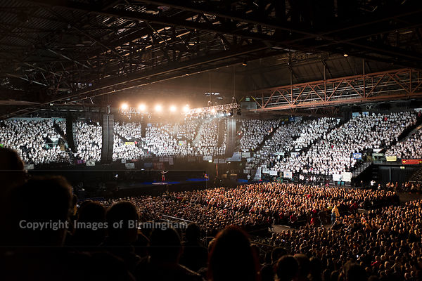 A performance at the Genting Arena at the NEC, Birmingham.