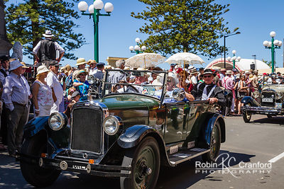 Art Deco Saturday 2012 - Vintage Car Parade.  License Plate = OKLAND