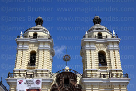 San Francisco church towers, Lima, Peru