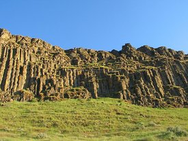 Basalt cliffs in eastern Oregon