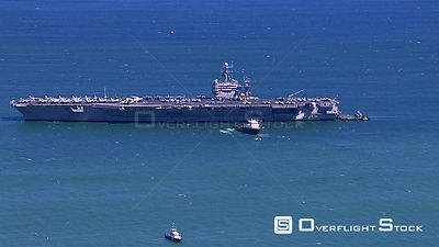 Aerial of an Aircraft Carrier. Western Cape South Africa