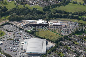 Skelmersdale aerial photograph of West Lancashire college and Asda