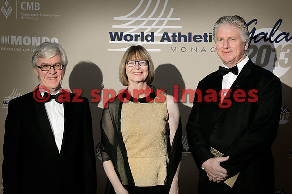 IAAF Council Members Silvia Barlag with her husband and Geoff Gardner (right)