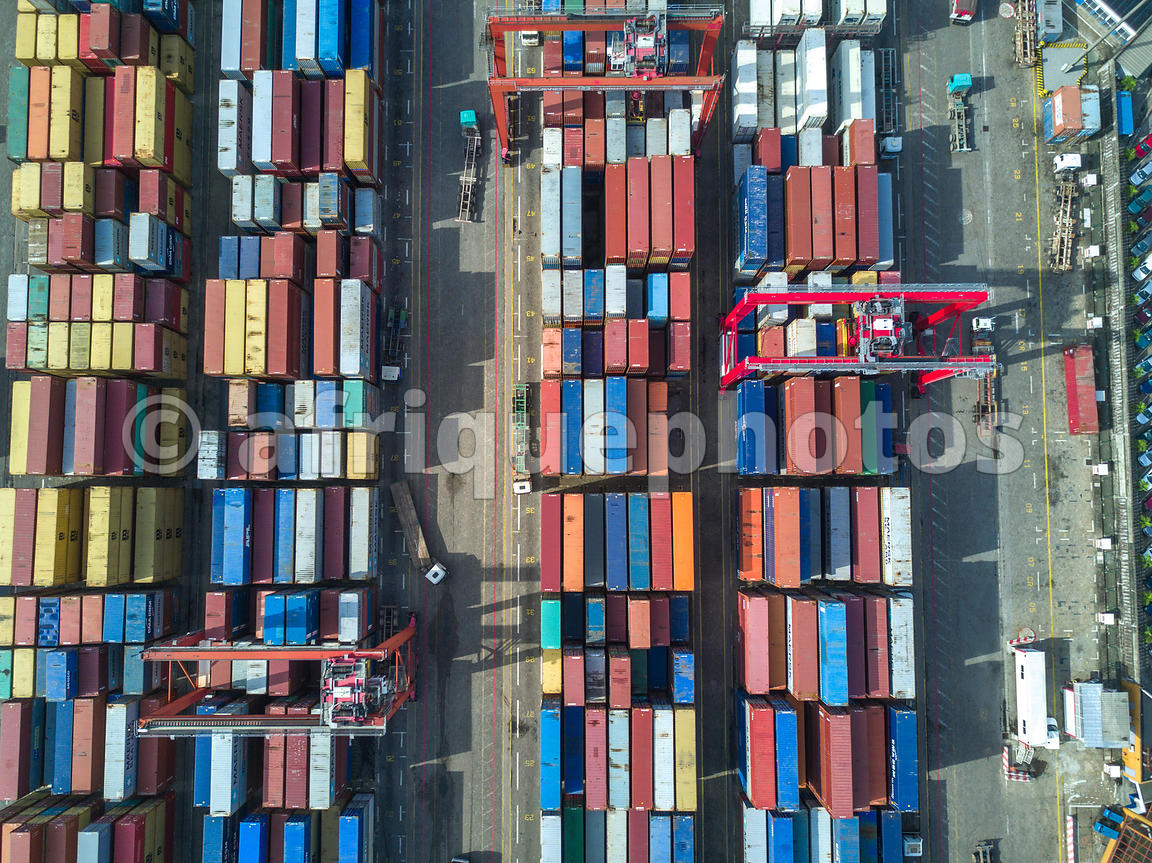 Abidjan port from above