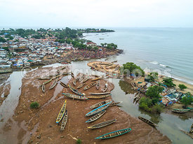 Fishing harbor, Freetown, Sierra Leone