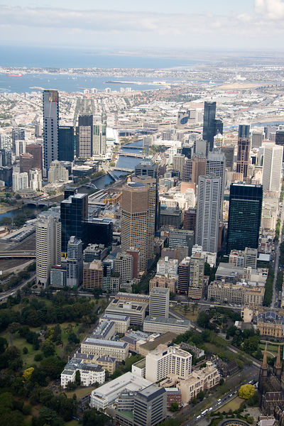 Aerial view of Melbourne No.1