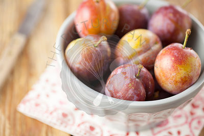 Opal Plums in Bowl