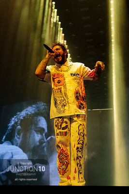 Post Malone at the Resorts World Arena, Birmingham, United Kingdom - 16 Feb 2019