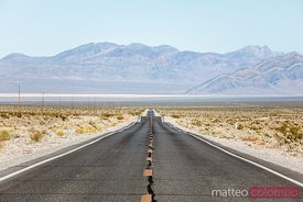 Empty road, Death Valley NP, California, USA