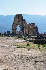 Approaching the Basilica, Volubilis, Morocco; Vertical