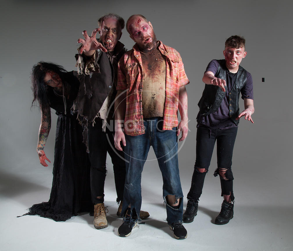 Zombie Groups and Horde Stock Photography