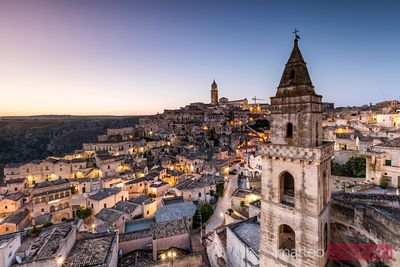 Dawn over Stones of Matera, Basilicata, Italy