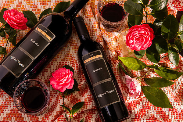 Creatively styled wine bottle photos in Napa Valley by Jason Tinacci