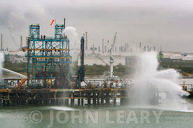 Fire Drill at Fawley Refinery Southampton.