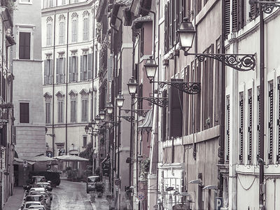 Old buildings in city of Rome, Italy