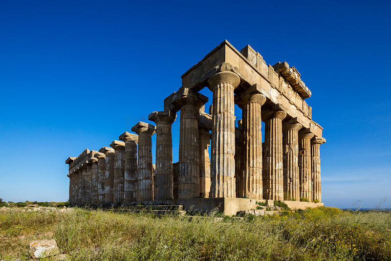 Temple E, dedicated to Hera at the Greek ruins of Selinunte.