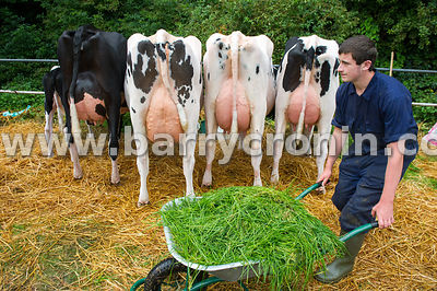 19th August, 2015.The 74th Virginia Agricultural Show, Virginia, County Cavan. Pictured is Ben McEvoy from Drogheda with Tom ...