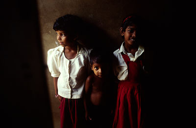 India - Kerala - Children in a classroom at the school for Dalits