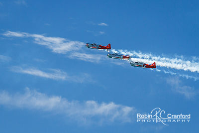 Art Deco Saturday 2014.  Air show.  New Zealand Warbirds Aerobatic Team.