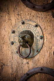 Brioude basilica bronze door knocker