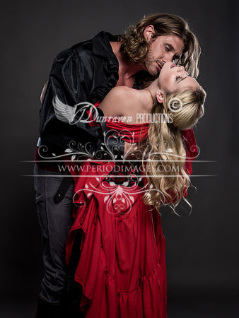Pirate Couple Embrace