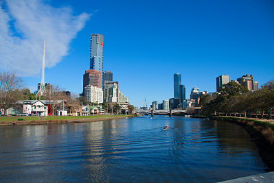 A view of Southbank Melbourne