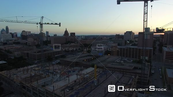 Construction Projects in the Medical District Austin Texas Drone Video
