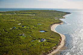 Aerial photograph of the Seven Sisters of the Hamptons