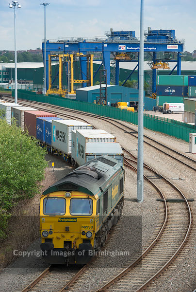 Rail Freight terminal at Birch Coppice Business Park Dordon Tamworth Staffordshire