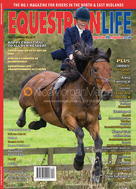 Equestrian Life front cover photography, December 2012