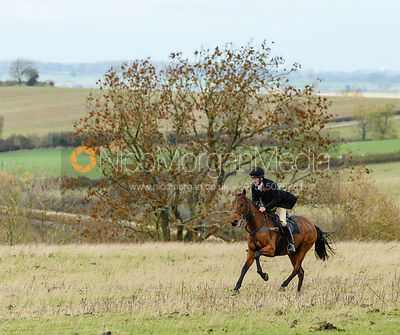Ida Thore at Stone Lodge. The Cottesmore Hunt at Tilton