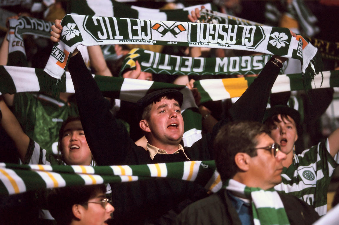 Scotland - Glasgow - Celtic fans at Parkhead