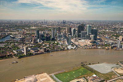 Canary Wharf and Cubitt Town Downtown London England