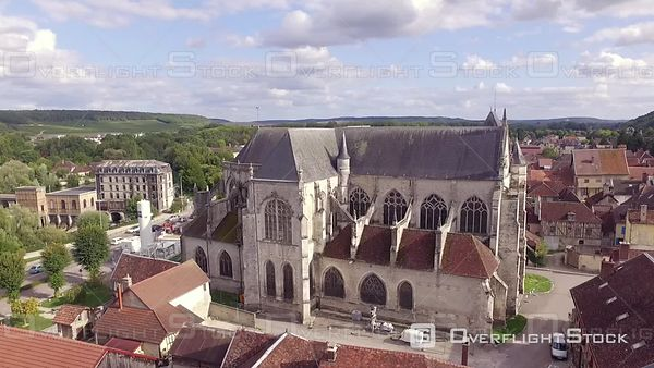 Church of Bar sur Seine  Champagne Region  France