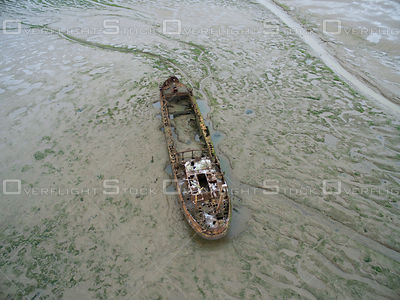 Ship Wreck South Holland District Lincolnshire UK