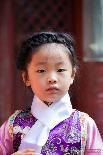 Portrait of chinese child in traditional dress