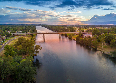 Scenic views early morning along the Nepean River as is leaves the gorge into the plains and  makes its long journey to the s...
