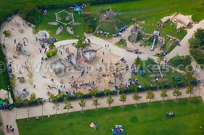 Aerial view of playground